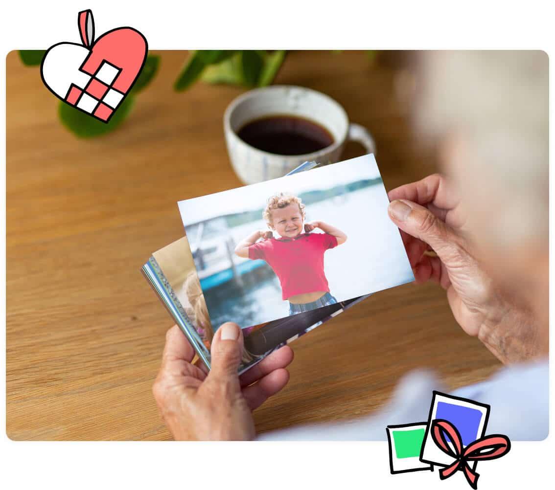 Send mor flotte fotoprint hver måned